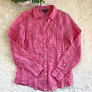 346 Brooks brothers women's red button up top 10
